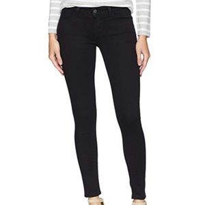 Levis 535 Super Skinny Ankle Black Jeans 00 W24